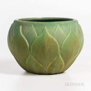 Roseville Pottery Velmoss Artichoke Jardiniere