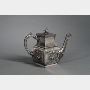 James W. Tufts Silver Plated Teapot