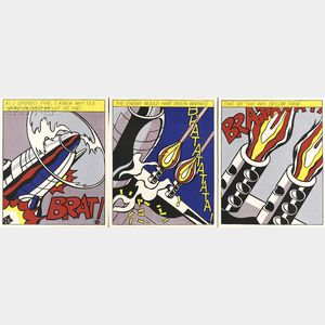 Roy Lichtenstein (American, 1923-1997)      As I Opened Fire...  /A Triptych