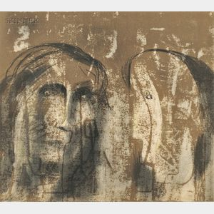 Henry Moore (British, 1898-1986)      Two Heads