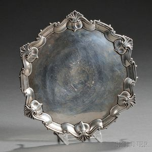 Victorian Sterling Silver Card Tray