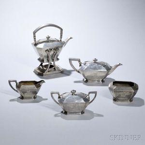 Five-piece Gorham Sterling Silver Tea Service