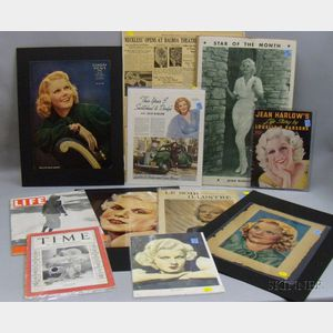 Group of Jean Harlow Collectible Magazines and Ephemera