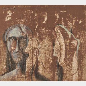 Henry Moore (British, 1898-1986)      Mary and Martha