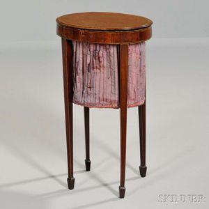 Georgian Inlaid Mahogany Sewing Stand