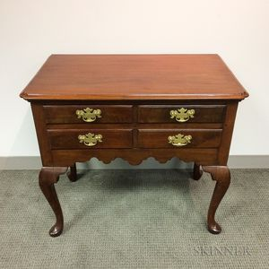 Chippendale-style Mahogany Veneer Dressing Chest