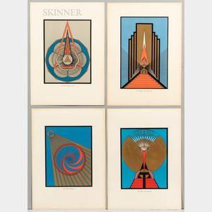 Olga Fröbe-Kapteyn (Dutch, 1881-1962) Four Screenprints: The Portal of Initiation, Om Mani Padme Hum, The Divine Breath, The Light of t
