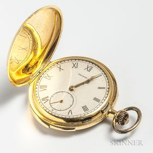 Movado 18kt Gold Hunter-case Pocket Watch