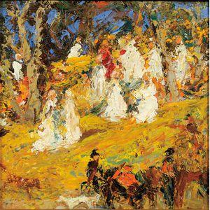 William Baxter Palmer Closson  (American, 1848-1926)      At the Wood