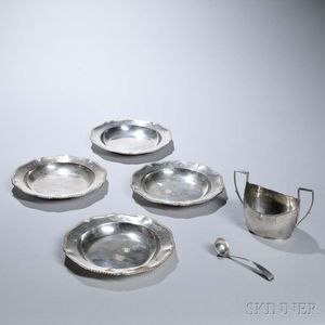 Six Pieces of British Tableware