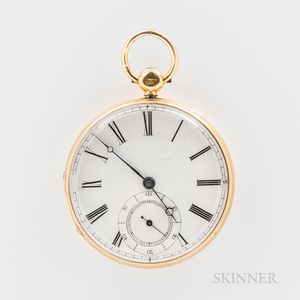 18Kt Gold Presentation Open-face Watch