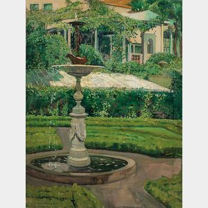 Jane Peterson (American, 1876-1965)      Elihu Vedder Fountain