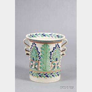 Talavera Tin Glazed Earthenware Planter