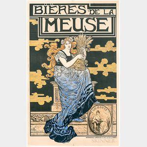 Marc Auguste Bastard Bieres de la Meuse   Poster