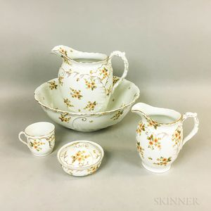 English Five-piece Ceramic Chamber Set.