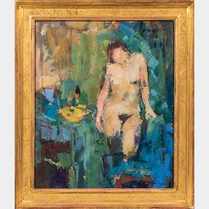 Cynthia Packard (American, b. 1957)      Nude in an Interior.