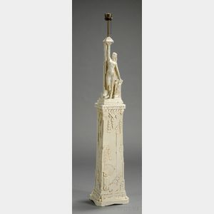 Sculptural Pottery Floor Lamp