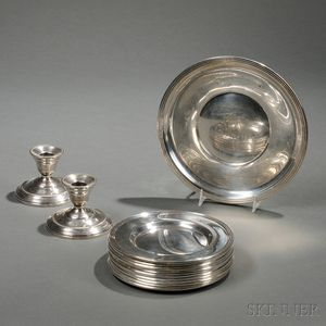 Fifteen Pieces of American Sterling Silver Hollowware