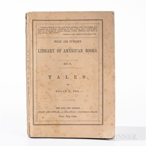Sold for: $315,000 - Poe, Edgar Allan (1809-1849) Tales  , First Edition, in Paper Wrappers.