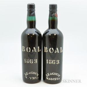 Boal Leacocks Madeira 1863, 2 750ml bottles