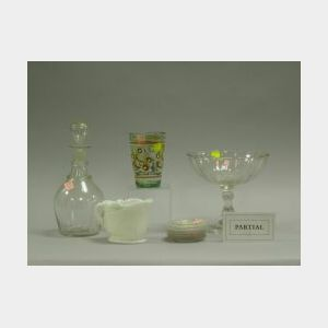 Approximately Twenty-seven Blown, Pattern, and Milk Glass Table Items.