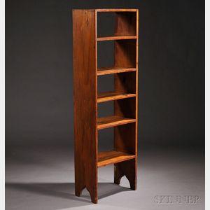 Shaker Pine Flight of Shelves