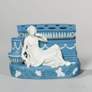 Wedgwood Solid Blue Jasper Figural Bough Pot