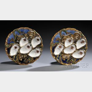 Pair of Rutherford B. Hayes Presidential Oyster Plates