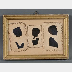 Three Family Silhouettes in a Common Frame