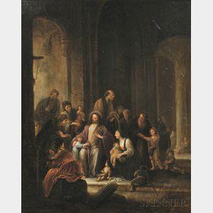 School of Pieter de Witte, the Elder, also known as Peter Candid (Dutch, 1548-1628)      Christ Receiving the Children