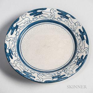Dedham Pottery Duck Plate