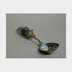 Whimsical Dutch Silver Spoon.