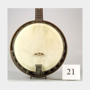 American Plectrum Banjo, William L. Lange, c. 1930, Model Paramount