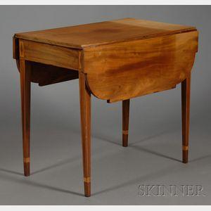 Federal Mahogany Inlaid Drop-leaf Table
