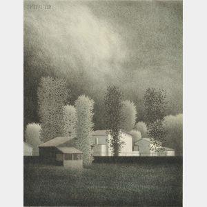 Robert Kipniss (American, b. 1931)      Weather Moving Through.