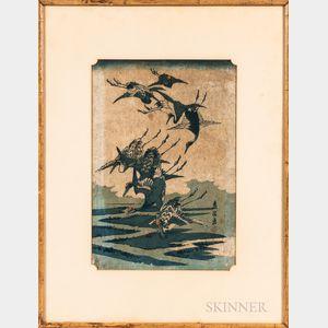 Keisai Eisen (1790-1848), Woodblock Print