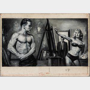 Ed Balcourt (American, 20th Century)      The Model.