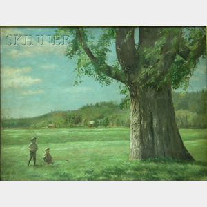 Franco/American School, 19th/20th Century      Two Boys in a Field