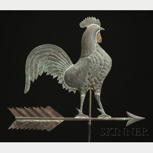 Molded Copper Rooster Weather Vane