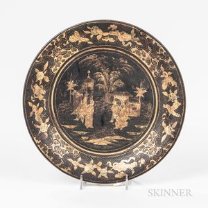 Export Gilt/Lacquered Dish