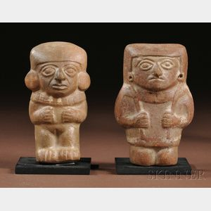 Two Moche Molded Pottery Figures