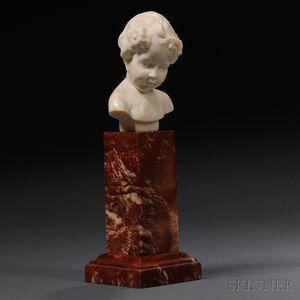 Louis Sosson (French, fl. 1905-1930)       Ivory Bust of a Young Child