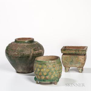 Tang Jar, Ming Censer, and a Han Jar