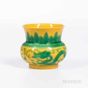 Yellow/Green-glazed Jarlet