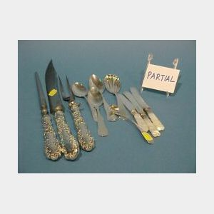 Approximately Sixty-one Pieces of Sterling Silver and Plated Flatware.