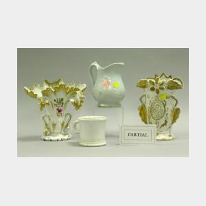 Seventeen Pieces of Paris Porcelain and Ironstone.