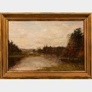 Samuel Lancaster Gerry (American, 1813-1891)      Saco River, Autumn