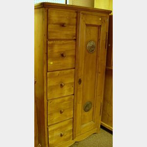 Continental Pine Cupboard with Airing Compartment.