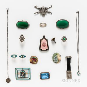 Group of Vintage Silver and Costume Jewelry