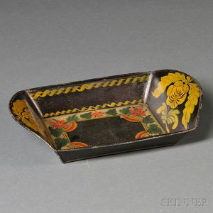 Painted Tinware Bread Tray